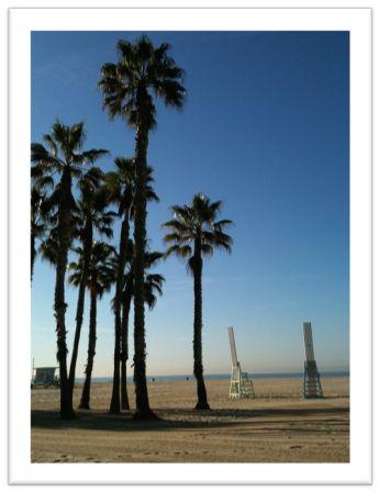 真っ青な広い空はロサンゼルスの象徴