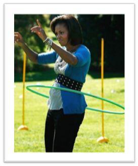 Let's Moveキャンペーンの発起人のオバマ大統領夫人